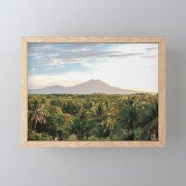 Mighty Volcano Framed Mini Art Print