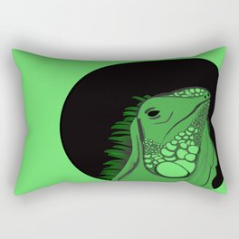 Green Iguana Illustration  Rectangular Pillow