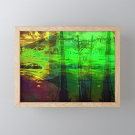 Sunset Transformer II- Toxic Green Framed Mini Art Print