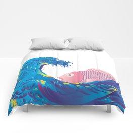 Hokusai Rainbow & Jpanese Snapper  Comforters
