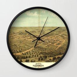 Bird's eye view of California, Moniteau County, Missouri (1869) Wall Clock