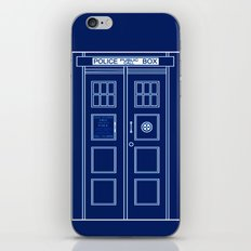 TARDIS Front Door - Doctor Who iPhone & iPod Skin