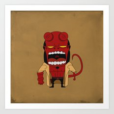 Screaming Helldude Art Print