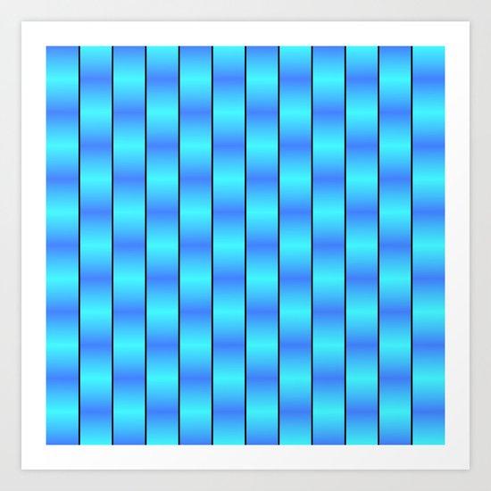 Blue Ribbons Art Print