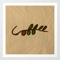 Coffee Branch Art Print