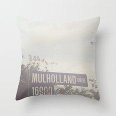 Mulholland Drive Throw Pillow