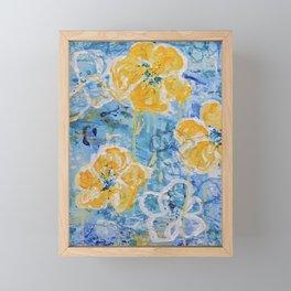 Hello Summer - Yellow Flower Painting Framed Mini Art Print