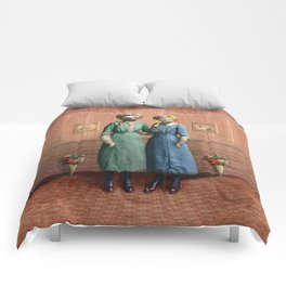 The Sloth Sisters at Home Comforters