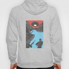 Russian and American Battle Tank Spaceship Drawing Hoody