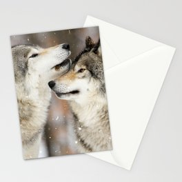 Winter Wolves Stationery Cards