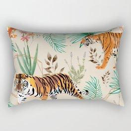 Tropical & Tigers Rectangular Pillow