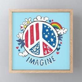Imagine Love Imagine Peace Framed Mini Art Print
