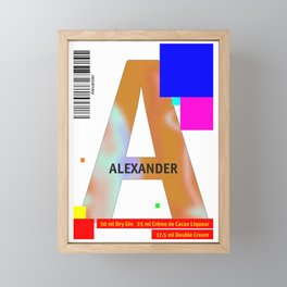 "Cocktail ""A"" - Alexander Framed Mini Art Print"