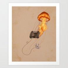 Gamer Jellyfish Art Print