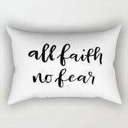 All Faith / No Fear Rectangular Pillow