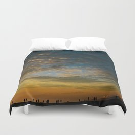 Viewing the Sunset Duvet Cover