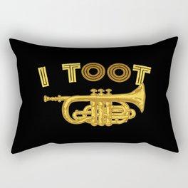 I Toot | Trumpets Music Instrument Rectangular Pillow