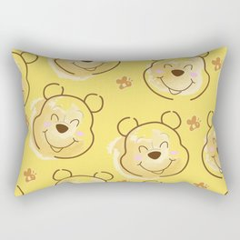 Inspired Pooh Bear surrounded with bees Pattern on Yellow background Rectangular Pillow