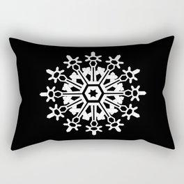 Snowflake Medallion B&W Rectangular Pillow
