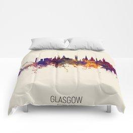 Glasgow Scotland Skyline Comforters