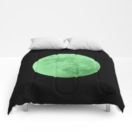 LIME MOON // BLACK SKY Comforters