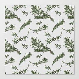 Rosemary rustic pattern Canvas Print
