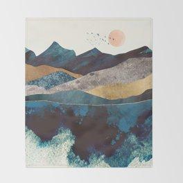 Blue Mountain Reflection Throw Blanket