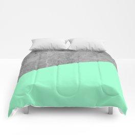 Geometry 101 Mint Meringue Comforters
