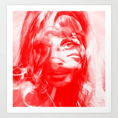 Sharon Mix 12 red Art Print