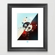 Ying-Yang Blue Version Framed Art Print