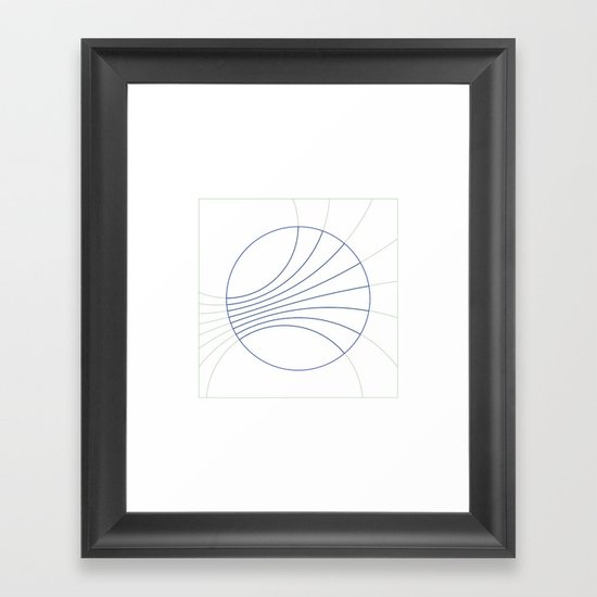 #300 Gravity field – Geometry Daily Framed Art Print