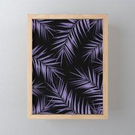 Palm Leaves Cali Finesse #5 #UltraViolet #Black #tropical #decor #art #society6 Framed Mini Art Print