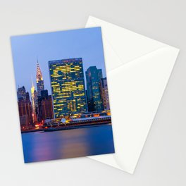 Beginning of the night over Manhattan Stationery Cards