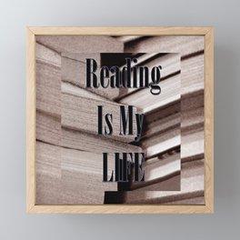 Reading Is My Life Framed Mini Art Print