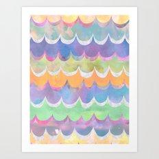 Mia Wave {Orange} Art Print