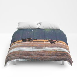 Flying Canadian Geese Comforters