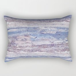 Blue lilac marble Rectangular Pillow