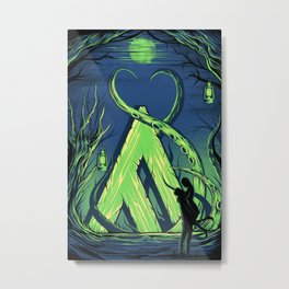 Reflections [Green]  Metal Print