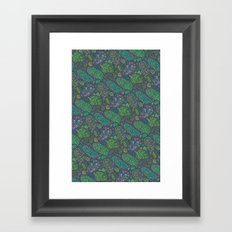 Nugs in Green Framed Art Print