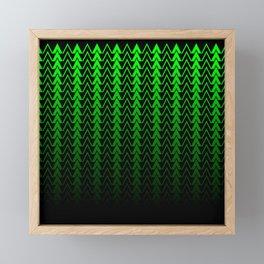 Dark Forest Geometric Framed Mini Art Print