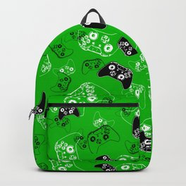 Video Game Green Backpack