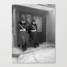Beijing policemen Canvas Print
