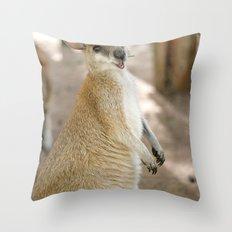 Smiling Kangaroo Throw Pillow
