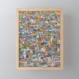 pokeman Framed Mini Art Print