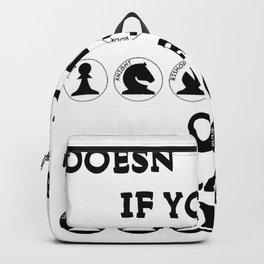 Not Matter White or Black Backpack