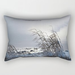 Trail on the river Rectangular Pillow