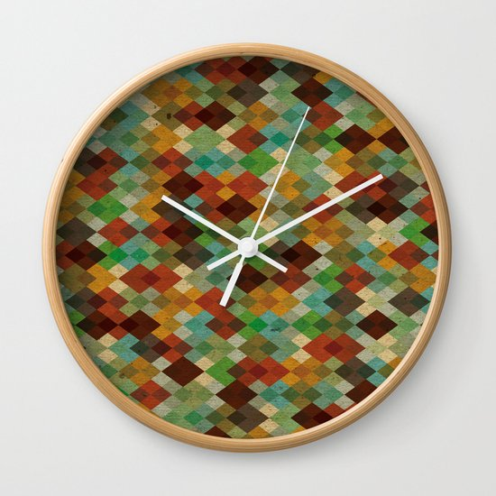 Deckled Formation Wall Clock