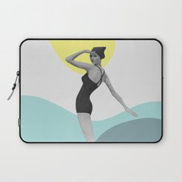 Swimmer Collage Laptop Sleeve