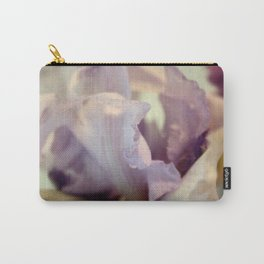 Pale Lilac Iris Abstract Carry-All Pouch