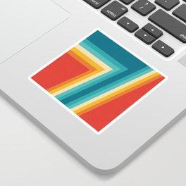 Colorful Retro Stripes  - 70s, 80s Abstract Design Sticker